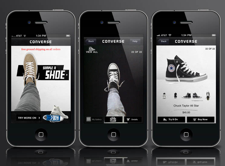 The Sampler By CONVERSE Augmented Reality iPhone App